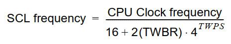 فرمول محاسبه فرکانس I2C