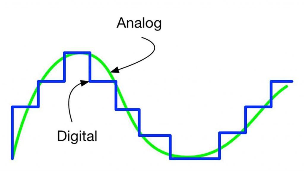 مقایسه سیگنال آنالوگ و دیجیتال