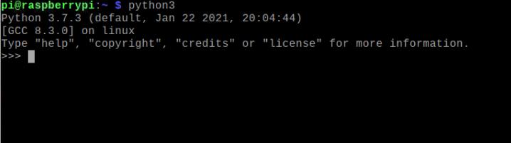 تست نصب بودن پایتون 3 در رزبین