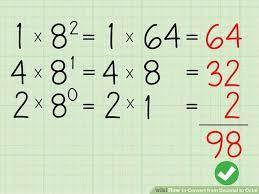 تبدیل عددی از مبنای 8 به مبنای 10